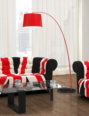 TWISTY FLOOR LAMP RED